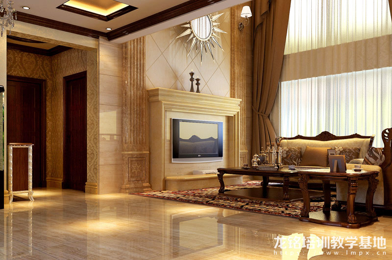 刘博:铁岭浅水湾320平欧式风格室内设计作品